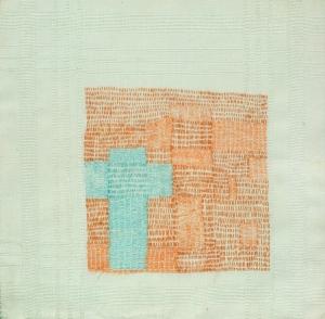 Orange Field-Blue Cross